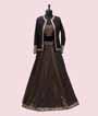 Black Lehenga Choli with Jacket and Brocade skirt 1