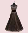 Black Lehenga Choli with Jacket and Brocade skirt 2