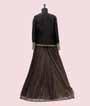 Black Lehenga Choli with Jacket and Brocade skirt 3