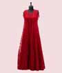 Red Salwar Kameez with Jacket and Embroidery  1