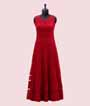 Red Salwar Kameez with Jacket and Embroidery  2