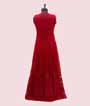 Red Salwar Kameez with Jacket and Embroidery  3