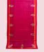Rain Pink Tussar Silk Saree Applic Work 1