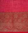 Rama Green Chanderi Cotton Saree With Floral Print 3