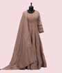 Light Brown Salwar Kameez With Self Embroidery 1
