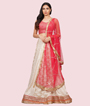 Cream And Red Lehenga Choli 1