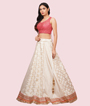Cream And Red Lehenga Choli 2