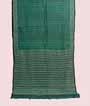 Green Tussar Silk Saree Sibhori Print and Katha Wiork 1