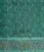 Green Tussar Silk Saree Sibhori Print and Katha Wiork 3
