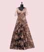 Black and Peach Gown with Sequins work 1