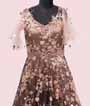 Black and Peach Gown with Sequins work 2