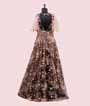 Black and Peach Gown with Sequins work 3