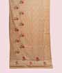 Beige Tussar Silk Saree With Thread Work 1
