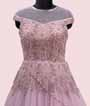 Stylish Mauve Gown with Handwork 2