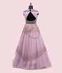 Stylish Mauve Gown with Handwork 3