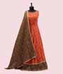 Orange Salwar Kameez in Bandej 1