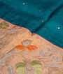 Green Tussar Silk Saree Ghicha Work 2