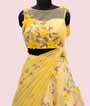 Yellow Lehenga Choli with Floral Print and Applic work 2