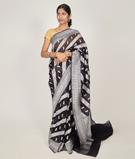 Black Banarasi Saree Kora Silver Zari 1
