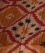 Red Tussar Silk Saree Katha Work 3
