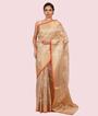 Gold Banarasi Cotton Saree 1