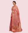 Onion Pink Banarasi Cotton Saree 2