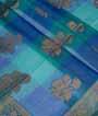 Ramagreen Banarasi Cotton Saree With Anttic Zari 2