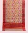 Cream Banarasi Cotton Saree With Anttic Zari 1