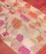 Cream Banarasi Cotton Saree With Anttic Zari 2