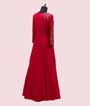 Scarlet Pink Gown in Georgette with Handwork 3