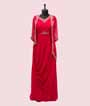 Scarlet Pink Gown in Georgette with Jacket 1