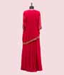 Scarlet Pink Gown in Georgette with Jacket 3