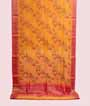 Yellow Linen Saree With Embroidery 1