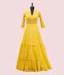 Yellow Georgette Salwar Kameez with Embroidery and Chikan work 3