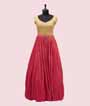 Pink and Yellow Georgette Salwar Kameez With Sequins and Handwork  2