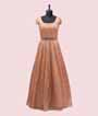 Peach Salwar Kameez in Net with Multicolour Embroidery 2