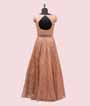 Peach Salwar Kameez in Net with Multicolour Embroidery 3