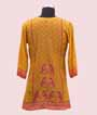 Mustard Yellow Short Top Kurti In Printed Crepe 2