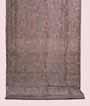 Grey Organza Saree Floral Print 1
