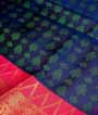 Teal Blue Kanjivaram Saree Hf Gold Zari 2