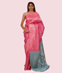 Pink Kanchipuram Saree In Silver Zari 2