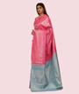 Pink Kanchipuram Saree In Silver Zari 3