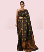 Black Kanchipuram Saree In Pure Gold Zari 1