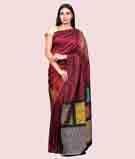 Maroon Kanjivaram Saree With Resham Thread 1