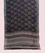 Black Linen Cotton Saree With Floral Print 1