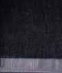 Black Linen Cotton Saree With Floral Print 3