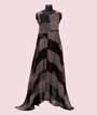 Chequered Black Kurti Full Length  1