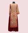 Two Layered Beige and Maroon Kurti With Print 2
