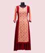 Peach and Red Kurti Casual Wear 1
