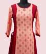 Peach and Red Kurti Casual Wear 2